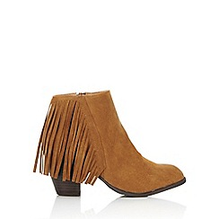 Wallis - Camel tassle ankle boot
