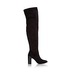 Wallis - Black over the knee block heel boot