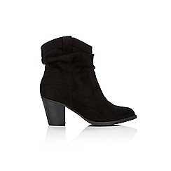 Wallis - Black cowboy style ankle boot