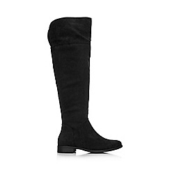 Wallis - Black flat over the knee boot