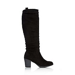Wallis - Black flat knee high boot