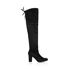 Wallis - Black lace up knee high boot