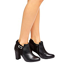 Wallis - Black buckle ankle boot