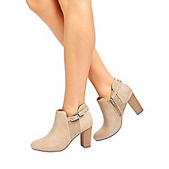 Wallis - Stone buckle ankle boot