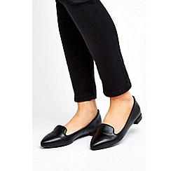 Wallis - Black Pointed Loafer Shoe