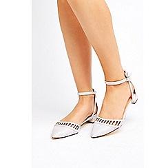 Wallis - Grey cutout pointed flat heel shoes