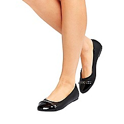 Wallis - Black trim ballerina shoes