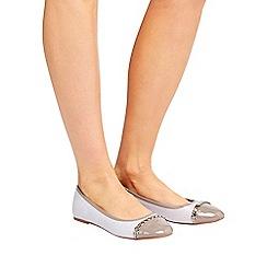 Wallis - Grey trim ballerina shoes