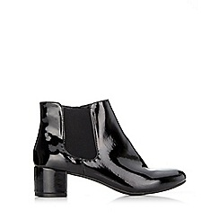 Wallis - Black patent ankle boot