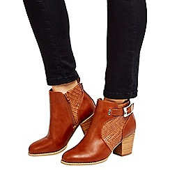 Wallis - Tan buckle ankle boots