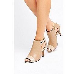 Wallis - Stone peep toe shoe boots