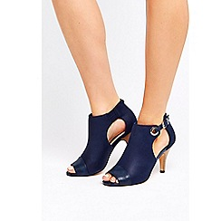 Wallis - Navy peep toe shoe boots