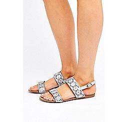 Wallis - Silver embellished sandals