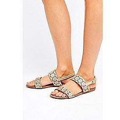 Wallis - Gold embellished sandals