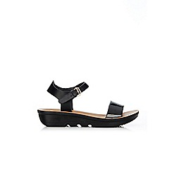 Wallis - Black wedge sandals