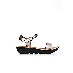 Wallis - Silver wedge sandals