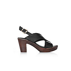 Wallis - Black strap clog sandals