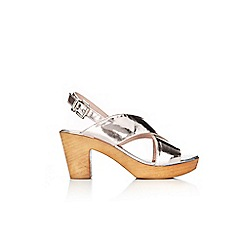 Wallis - Silver strap clog sandals