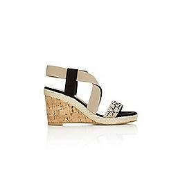 Wallis - Stone wedge sandals