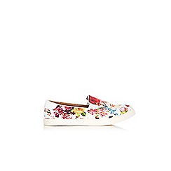 Wallis - Multi coloured floral print slip on loafers