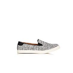 Wallis - Monochrome cross strap loafers