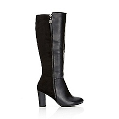 Wallis - Black high leg boot