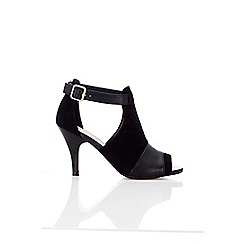 Wallis - Balck vamp peep toe sandal