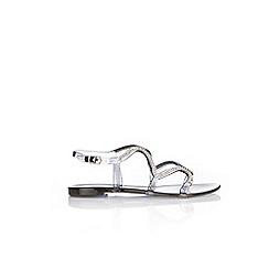 Wallis - Black embellished sandals
