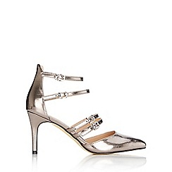 Wallis - Pewter multi strap court shoe