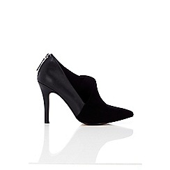 Wallis - Black asymmetric shoe boot
