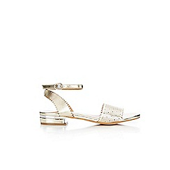 Wallis - Gold laser cut detail sandals