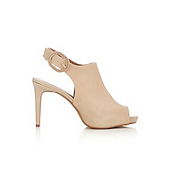 Wallis - Camel slingback platform shoes