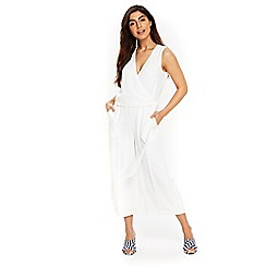 Wallis - Pale orchid ivory wrap jumpsuit