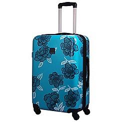 Tripp - Turquoise/navy 'Express Bloom Hard' 4 wheel medium suitcase