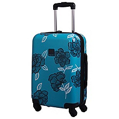Tripp - Turquoise/navy 'Express Bloom Hard' 4 wheel cabin suitcase