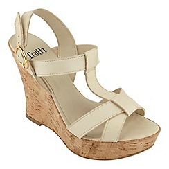 Faith - Ivory 'Daylili' wedge sandal