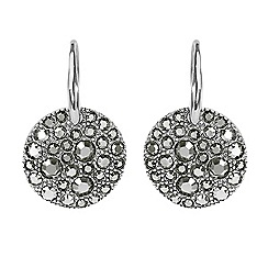 Adore - Metallic pave disc earrings made with Swarovski