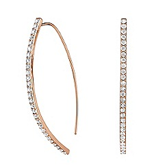 Adore - Pave curve drop earrings made with Swarovski