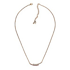 Adore - Curved bar necklace created with Swarovski crystals