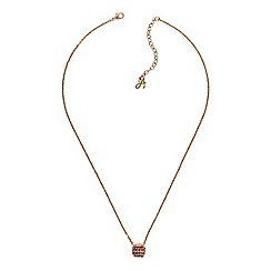 Adore - Pave square necklace created with Swarovski crystals