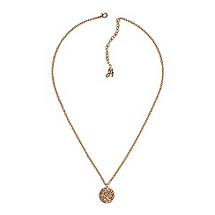 Adore - Metallic pave disc necklace made with Swarovski