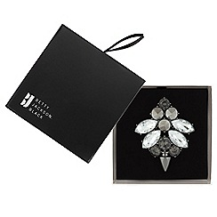 Betty Jackson.Black - Great value designer mixed grey crystal cluster brooch