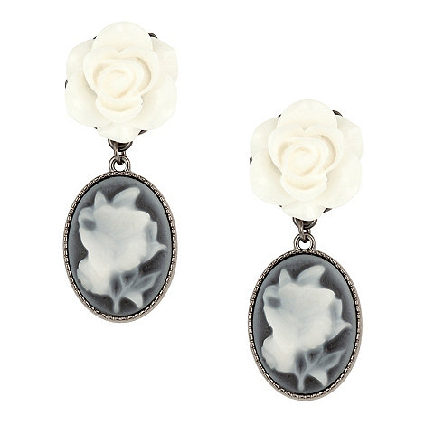 Betty Jackson.Black - Cameo rose drop earring