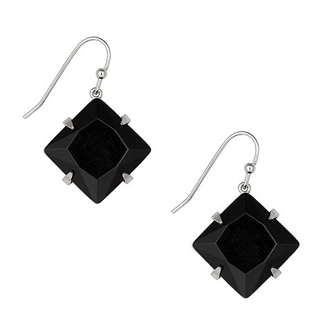 Betty Jackson.Black - Jet angled square set drop earring
