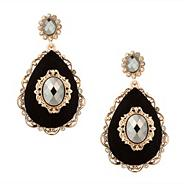 Online exclusive baroque style jet chandelier earring