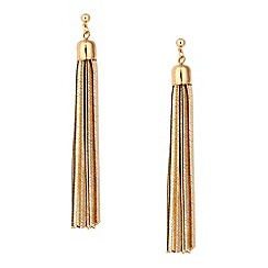 Betty Jackson.Black - Designer gold snake chain drop earring