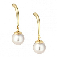 Betty Jackson.Black - Designer cream pearl dangle drop earring