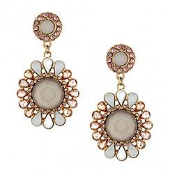 Betty Jackson.Black - Designer pastel stone floral chandelier earring