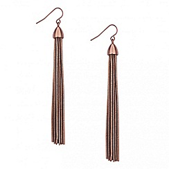 Betty Jackson.Black - Designer chocolate tassel drop earring