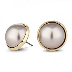 Betty Jackson.Black - Designer lilac pearl stud earring